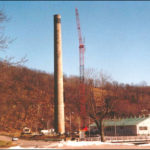 Smokestack Crane Erection